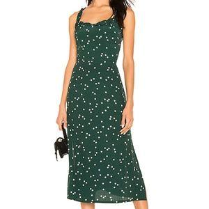 FAITHFULL THE BRAND Green Midi Dress